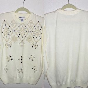Alfred Dunner Sequin Chenille Sweater Sz:M
